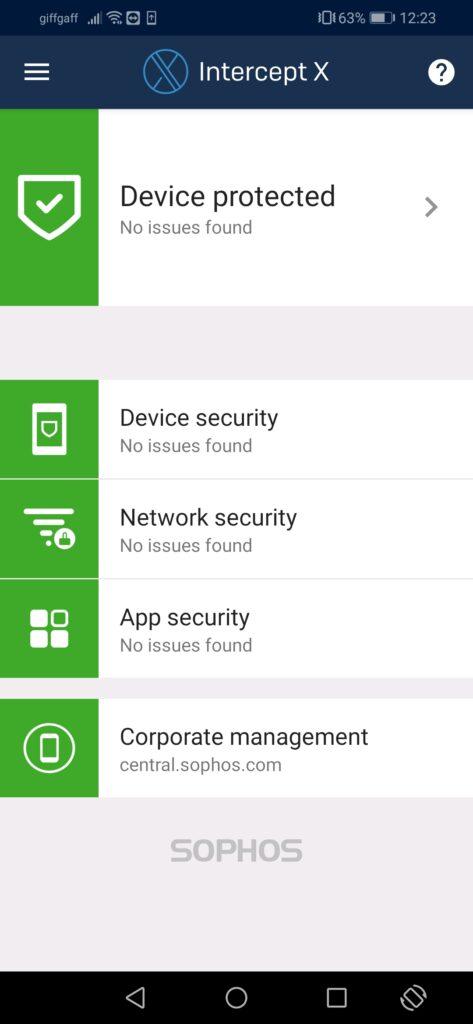 Endpoint protection til iOS og Android fra firmaet SOPHOS. Klik på billedet for mere information.